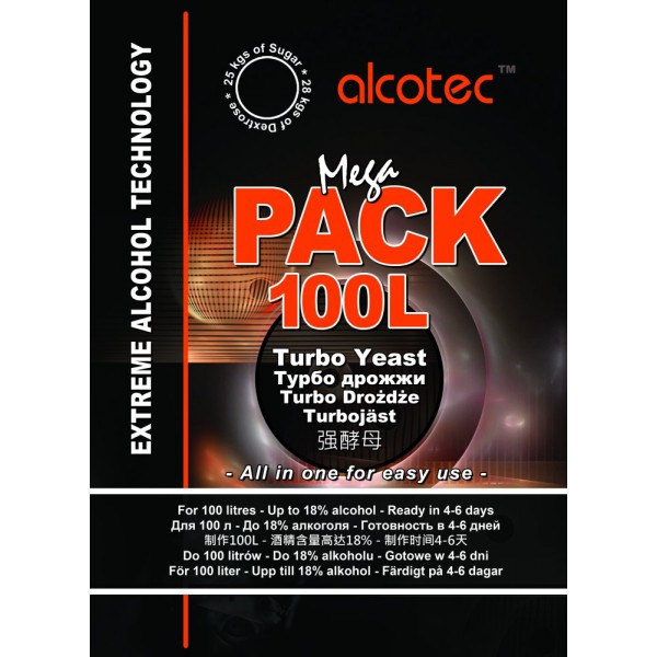 alcotec mega pack 100 l turbo yeast